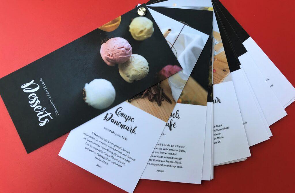Chappeli Dessertkarte